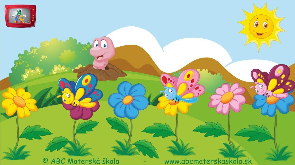 rozprávky, príbehy pre deti, vzdelávací príbeh pre deti, farebné kvietky, farebné motýle