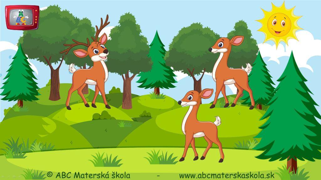 rozprávky, príbehy pre deti, vzdelávací príbeh pre deti, život v lese, lesné zvieratá, jeleň lesný