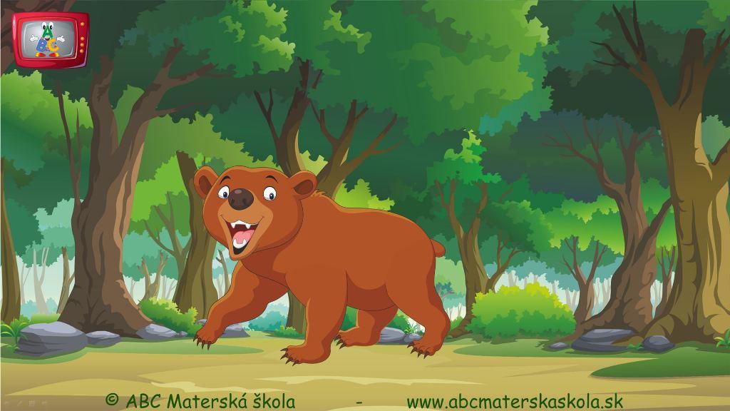 rozprávky, príbehy pre deti, vzdelávací príbeh pre deti, život v lese, lesné zvieratá, medveď hnedý