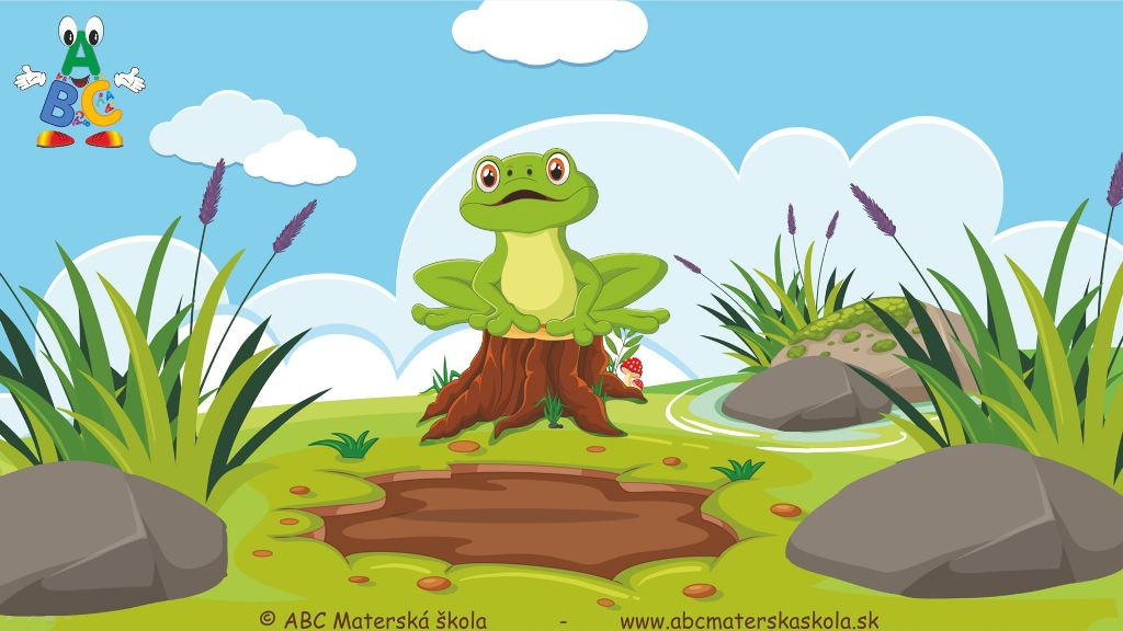 riekanky, skáče žaba, skáče žaba po blate, video riekanky